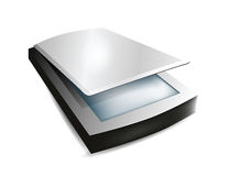 Scanner  on White Background Royalty Free Stock Photography