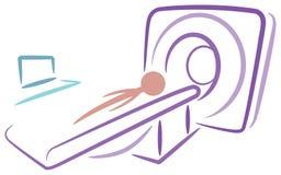 Scanning. Line art logo design Royalty Free Stock Images