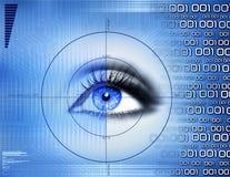 Scanning. Visual footprint,retina scanning,abstract Royalty Free Stock Image