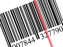 Scanning a bar code Stock Photography