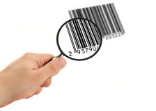 Scanning bar code Stock Photography