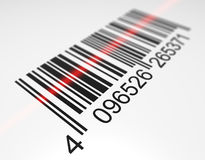 Scanning a bar code. Bar code scanning. Digitally generated image Royalty Free Stock Photography