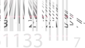 Scanning barcodes loopable 4K animation. Scanning barcodes loop able 4K clip stock illustration