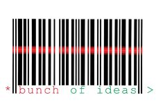 Scanning Bunch of Ideas Barcode Macro Isolated Royalty Free Stock Photos