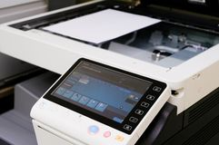Scanning device. Close-up photography. Business object royalty free stock images