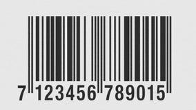 Scanning EAN barcode on cardboard. Laser line scanning EAN barcode on a textured cardboard royalty free illustration