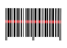 Scanning Empty Barcode Macro Closeup Isolated Royalty Free Stock Photo