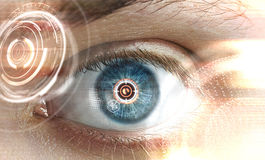 Scanning eye interface Royalty Free Stock Images