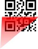 scanning för bbmkodqr Arkivbilder