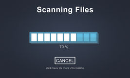 Scanning Files Searching Processing Antivirus Concept Stock Images