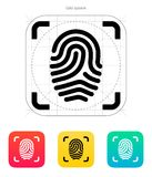 Scanning finger icon. Stock Photo