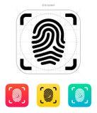 Scanning finger icon. Vector illustration royalty free illustration