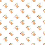 Scanning of finger pattern, cartoon style. Scanning of finger pattern. Cartoon illustration of scanning of finger vector pattern for web Royalty Free Stock Images