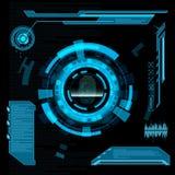 Scanning fingerprint. Interface HUD. Stock Photos