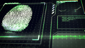 Scanning fingerprint. Interface HUD. Stock Image