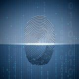 Scanning a fingerprint. Technology background. Stock Images