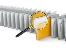 Scanning folders stock illustration