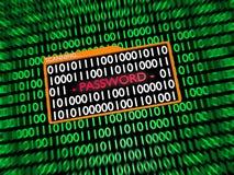 Scanning Hidden Digital Password Stock Photo