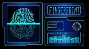 Scanning human fingerprint technology background. Illustration of Scanning human fingerprint technology background Stock Images