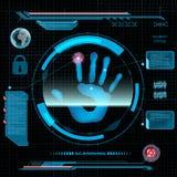 Scanning human hand. Stock Image