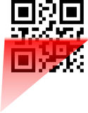 Scanning of qr and bbm code Stock Images