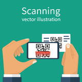 Scanning QR code Stock Photography