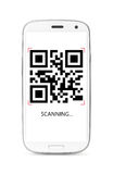 Scanning QR code Stock Images