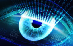 The scanning system of the retina, biometric security devices royalty free stock images