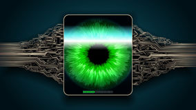 The scanning system of the retina, biometric security devices Stock Image