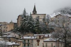 Scanno är en stad och en comune i landskapet av L ` Aquila, i den Abruzzo regionen av centrala Italien Arkivbild