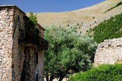 Scanno liten stad av Abruzzo Arkivbilder