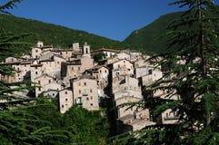 Scanno liten stad av Abruzzo Royaltyfria Foton