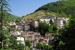 Scanno liten stad av Abruzzo Royaltyfri Bild