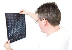 Scans der Doktorbetrachtung MRI Stockfoto