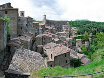 Scansano in Tuscany. Overview of the village of Scansano in Tuscany Royalty Free Stock Photography