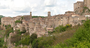Scansano in Tuscany. View of the village of Scansano in the province of Grosseto in Tuscany Royalty Free Stock Image