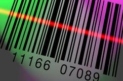 Scansione del codice a barre variopinta Fotografia Stock Libera da Diritti