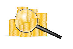 Scansione di situazione finanziaria Immagine Stock