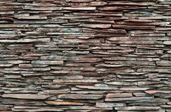 Scantling pattern overlap of decorative wall. Royalty Free Stock Photos