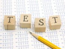 Scantron TEST blocks and pencil. royalty free stock photos