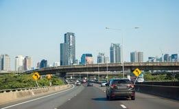 Scape éditorial de ville de Bangkok Images stock