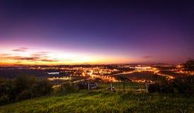 Scape города ночи Стоковые Изображения