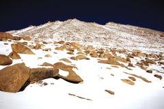 Scape горы Ladakh в зиме Leh-Ladakh, Jammu и Kahsmir, Стоковое Фото