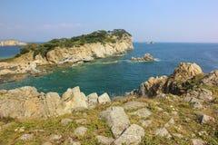 Scape моря утесистый берег Стоковое фото RF