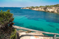 Scape моря Ibiza Стоковые Фото