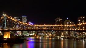 Scape ночи города Брисбена стоковые фото