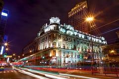 Scape ночи Шанхая стоковое фото