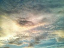 Scape облака Beautyful на заходе солнца Стоковое фото RF