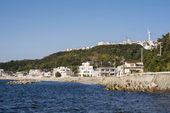 Scape da cidade do litoral imagens de stock royalty free