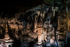 Scape de formaciones en Luray Caverns fotografía de archivo